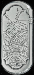 Silver Smalls:Match Safes, A GORHAM SILVER MATCH SAFE, Providence, Rhode Island, 1871. Marks:(lion-anchor-G), STERLING, 61, D. 2-1/2 inches high (...