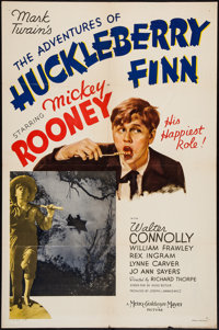 "The Adventures of Huckleberry Finn (MGM, 1939). One Sheet (27"" X 41"") Style C. Comedy"
