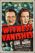 "Movie Posters:Crime, The Witness Vanishes (Universal, 1939). One Sheet (27"" X 41"").Crime.. ..."