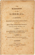 Books:Americana & American History, Alexander M'Whorter. The Blessedness of the Liberal: A Sermon,Preached in the Middle Dutch Church, Before the New-York ...