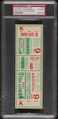 Baseball Collectibles:Tickets, 1945 World Series Chicago Cubs vs. Detroit Tigers Full Ticket ProofPSA Authentic....