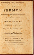 Books:Americana & American History, Jonathan Edwards. The Marriage of a Wife's Sister Considered ina Sermon Delivered in the Chapel of Yale-College, on the...