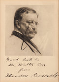 Autographs:U.S. Presidents, Theodore Roosevelt: A Very Attractive Inscribed, Signed Portrait....