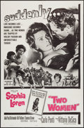 "Movie Posters:Foreign, Two Women (Embassy, 1960). One Sheet (27"" X 41""). Foreign.. ..."