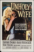 "Movie Posters:Crime, The Unholy Wife (RKO, 1957). One Sheet (27"" X 41""). Crime.. ..."