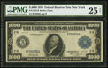 Large Size:Federal Reserve Notes, Fr. 1133-B $1,000 1918 Federal Reserve Note PMG Very Fine 25 Net.. ...