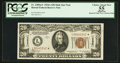 Small Size:World War II Emergency Notes, Fr. 2305* $20 1934A Mule Hawaii Federal Reserve Note. PCGS ApparentChoice About New 55.. ...
