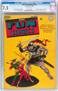 More Fun Comics #101 (DC, 1945) CGC VF- 7.5 Off-white pages