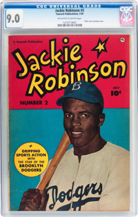 Jackie Robinson #2 (Fawcett Publications, 1950) CGC VF/NM 9.0 Off-white to white pages