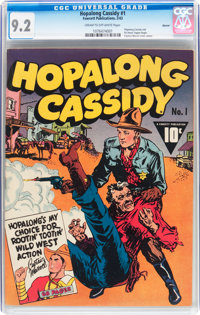 Hopalong Cassidy #1 Denver pedigree (Fawcett Publications, 1943) CGC NM- 9.2 Cream to off-white pages