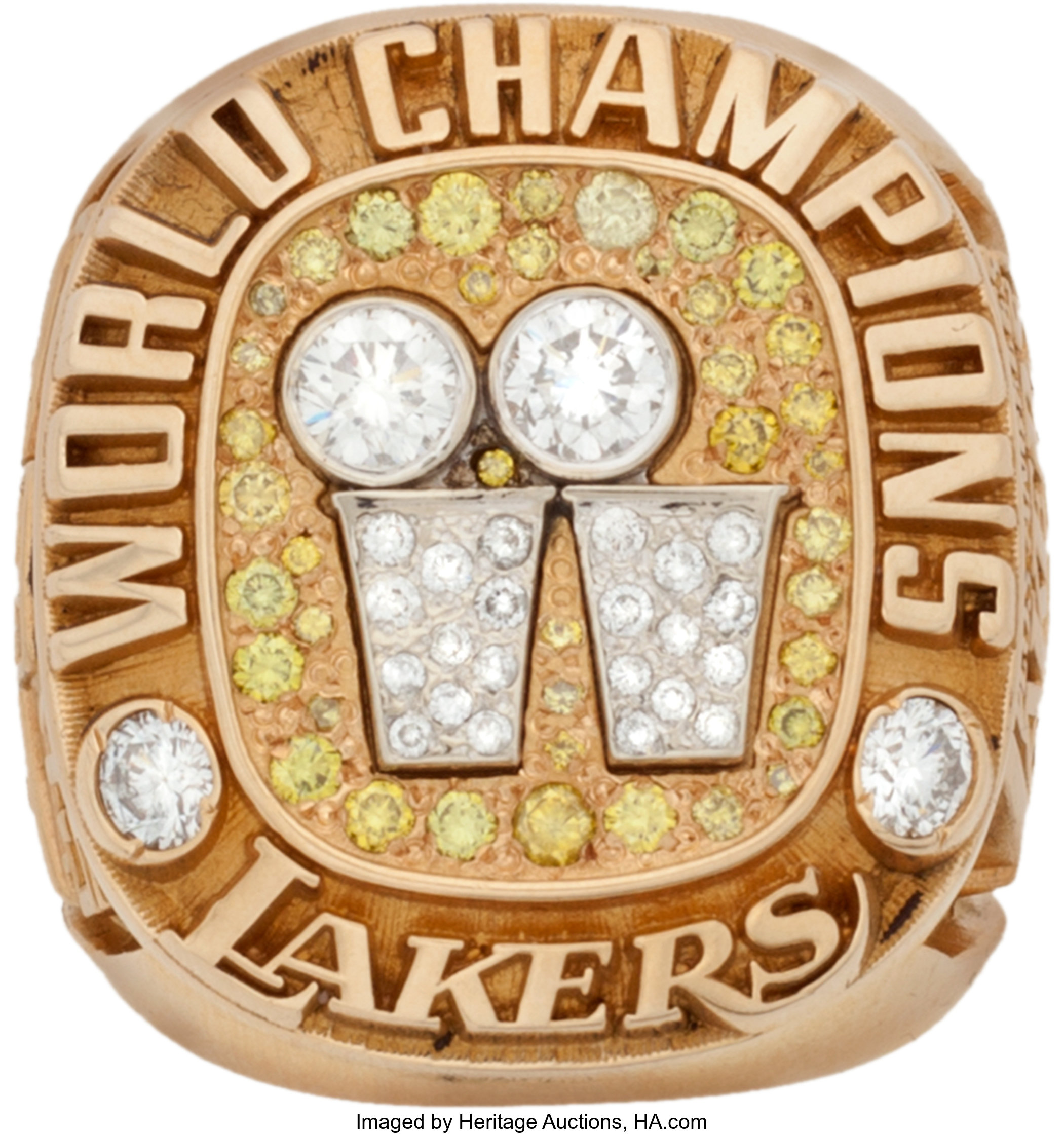 2001 Los Angeles Lakers Nba Championship Ring Basketball Lot 80122 Heritage Auctions
