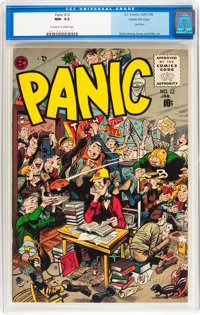 Panic #12 Gaines File pedigree 5/12 (EC, 1956) CGC NM- 9.2 Off-white to white pages