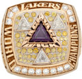 Basketball Collectibles:Others, 2002 Los Angeles Lakers NBA Championship Ring....