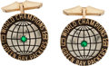 Football Collectibles:Others, 1967 Green Bay Packers Super Bowl I Championship Gold Cufflinks....
