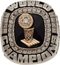 Basketball Collectibles:Others, 2006 Miami Heat NBA Championship Ring with Original Display Case....