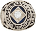 Baseball Collectibles:Others, 1959 Los Angeles Dodgers World Championship Ring Presented to Don Zimmer....
