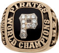 Baseball Collectibles:Others, 1979 Pittsburgh Pirates World Championship Ring Presented to MannySanguillen....