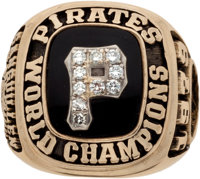 1979 Pittsburgh Pirates World Championship Ring Presented to Manny Sanguillen