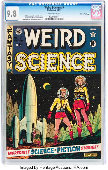 Weird Science #7 Gaines File pedigree (EC, 1951) CGC NM/MT 9.8 Off-white pages....
