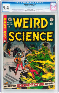 Weird Science #22 Gaines File pedigree (EC, 1953) CGC NM 9.4 Off-white to white pages