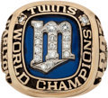 Baseball Collectibles:Others, 1987 Minnesota Twins World Championship Ring Presented to SteveCarlton....