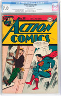 Golden Age (1938-1955):Superhero, Action Comics #98 (DC, 1946) CGC FN/VF 7.0 Off-white to white pages....