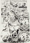 Original Comic Art:Splash Pages, Adam Kubert and Chris Warner Ghost Rider/Blaze: Spirits ofVengeance #2 Splash Page 12 Original Art (Marvel, 1992)...