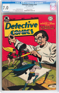 Detective Comics #127 (DC, 1947) CGC FN/VF 7.0 Off-white to white pages