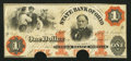 Obsoletes By State:Ohio, Norwalk, OH- State Bank of Ohio $1 Nov. 18, 1863. ...
