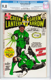 Green Lantern #87 Don/Maggie Thompson Collection pedigree (DC, 1971) CGC NM/MT 9.8 Off-white to white pages