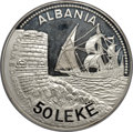 "Albania, Albania: Republic ""Seaport of Durazzo"" silver Proof Essai 50 Leke 1986 Proof Details (Rim Damage) NGC,..."