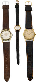 Timepieces:Wristwatch, Omega Steel & Gold Constellation, Lady's Gold Rolex, Longines18k Gold Conquest. ... (Total: 3 Items)