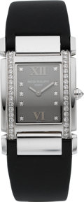 Timepieces:Wristwatch, Patek Philippe Ref. 4920G Ladies' Twenty~ 4 Diamond & WhiteGold Wristwatch. ...
