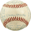 Autographs:Baseballs, 1958 New York Yankees Team Signed Baseball. After losing WorldSeries Game Seven to the Milwaukee Braves the season before,...