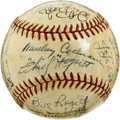 Autographs:Baseballs, 1935 Detroit Tigers World Champion Team Signed Baseball. The fifth time was a charm for the Motor City boys, who earned th...