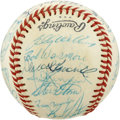 Autographs:Baseballs, 1975 Chicago Cubs Team Signed Baseball. The 1975 Chicago Cubs turnout in force in the form of 32 signatures on the provided...