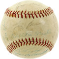 Autographs:Baseballs, 1960 New York Yankees Team Signed Baseball. Twenty-five New YorkYankees from the 1960 AL pennant-winning team have applied...