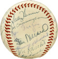 Autographs:Baseballs, 1954 St. Louis Cardinals Team Signed Baseball. Eddie Stanky's 1955St. Louis Cardinals appear here in the form of 26 signat...