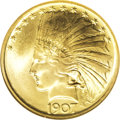 1907 $10 No Periods MS68 PCGS. Most collectors know Augustus Saint-Gaudens was both the most prominent sculptor of his t...