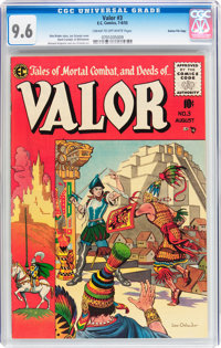 Valor #3 Gaines File pedigree 6/12 (EC, 1955) CGC NM+ 9.6 Cream to off-white pages