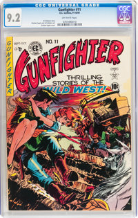 Gunfighter #11 (EC, 1949) CGC NM- 9.2 Off-white pages