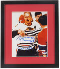 Hockey Collectibles:Photos, Bobby Hull Signed Photograph....