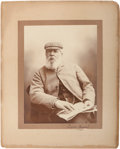 Autographs:Photos, Circa 1900 Old Tom Morris Signed Cabinet Photograph....