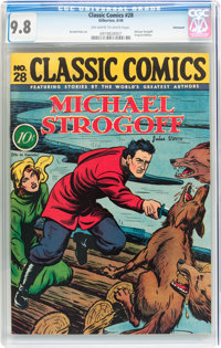 Classic Comics #28 Michael Strogoff - Original Edition - Vancouver pedigree (Gilberton, 1946) CGC NM/MT 9.8 Off-white to...