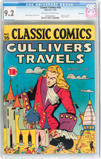 Classic Comics #16 Gulliver's Travels - Original Edition - Vancouver pedigree (Gilberton, 1943) CGC NM- 9.2 Off-white to...