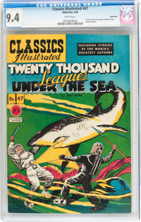 Classics Illustrated #47 Twenty Thousand Leagues Under the Sea - First Edition - Vancouver pedigree (Gilberton, 1948) CG...