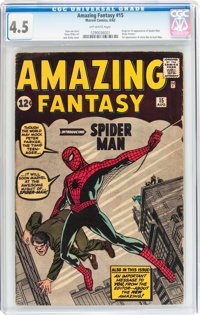 Amazing Fantasy #15 (Marvel, 1962) CGC VG+ 4.5 Off-white pages