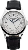 Timepieces:Wristwatch, Patek Philippe Very Fine Ref. 5296G-001 White Gold Center Seconds Automatic Wristwatch. ...