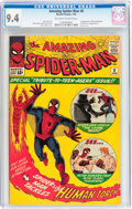 Silver Age (1956-1969):Superhero, The Amazing Spider-Man #8 (Marvel, 1964) CGC NM 9.4 Off-white towhite pages....