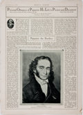 Books:Periodicals, [Music Periodical]. Issue of the Musical Courier, November8, 1928. Features an article about Paganini. Folio, s...